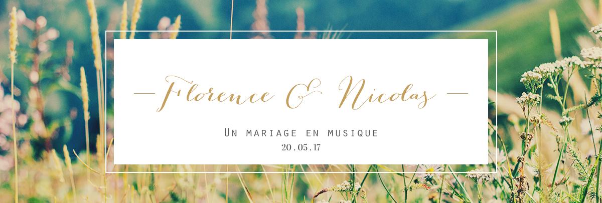 Slide Florence et Nicolas un mariage en musique