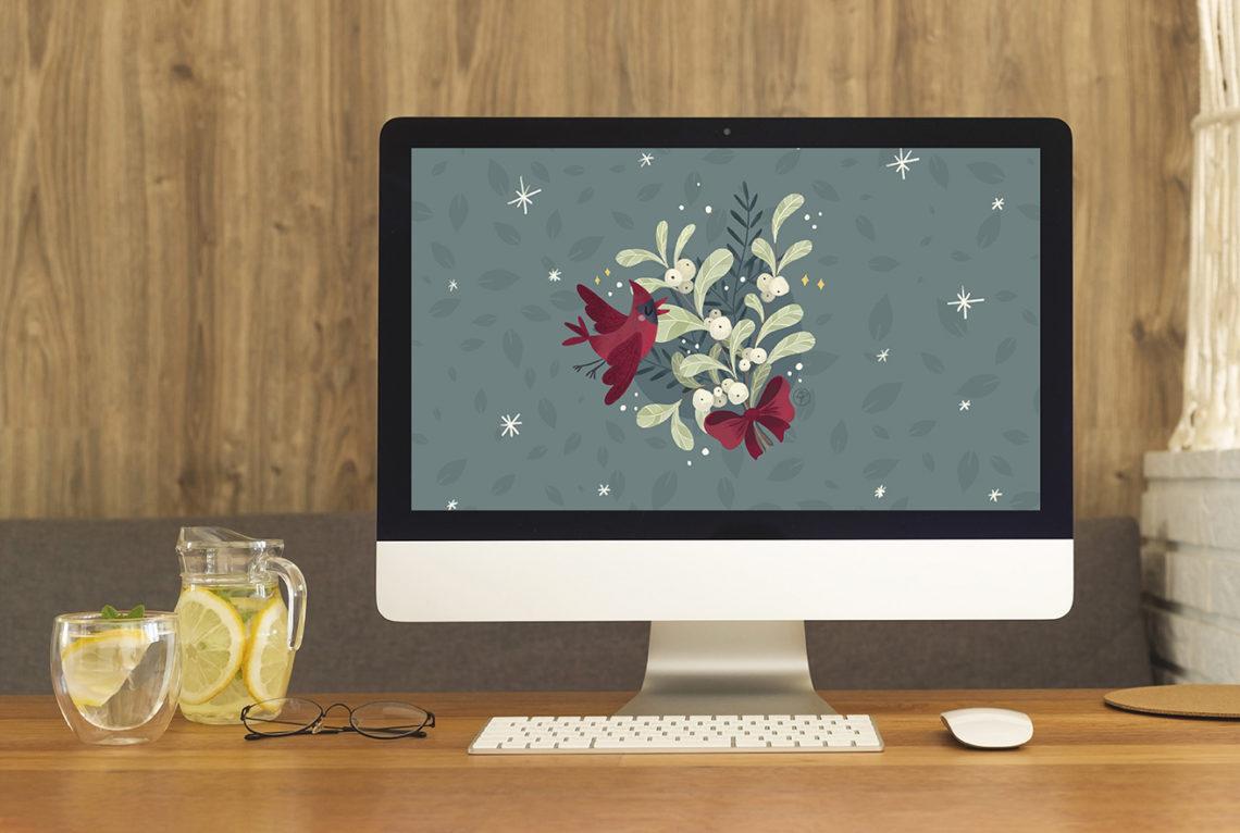 Mockup Wallpaper Noël 2020